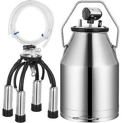 Electric Milker Bucket 25L Milking Machine Portable Stainles